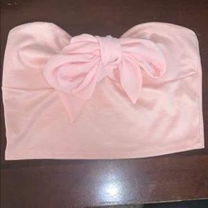 Charlotte Ruse Pink Bow Crop-top